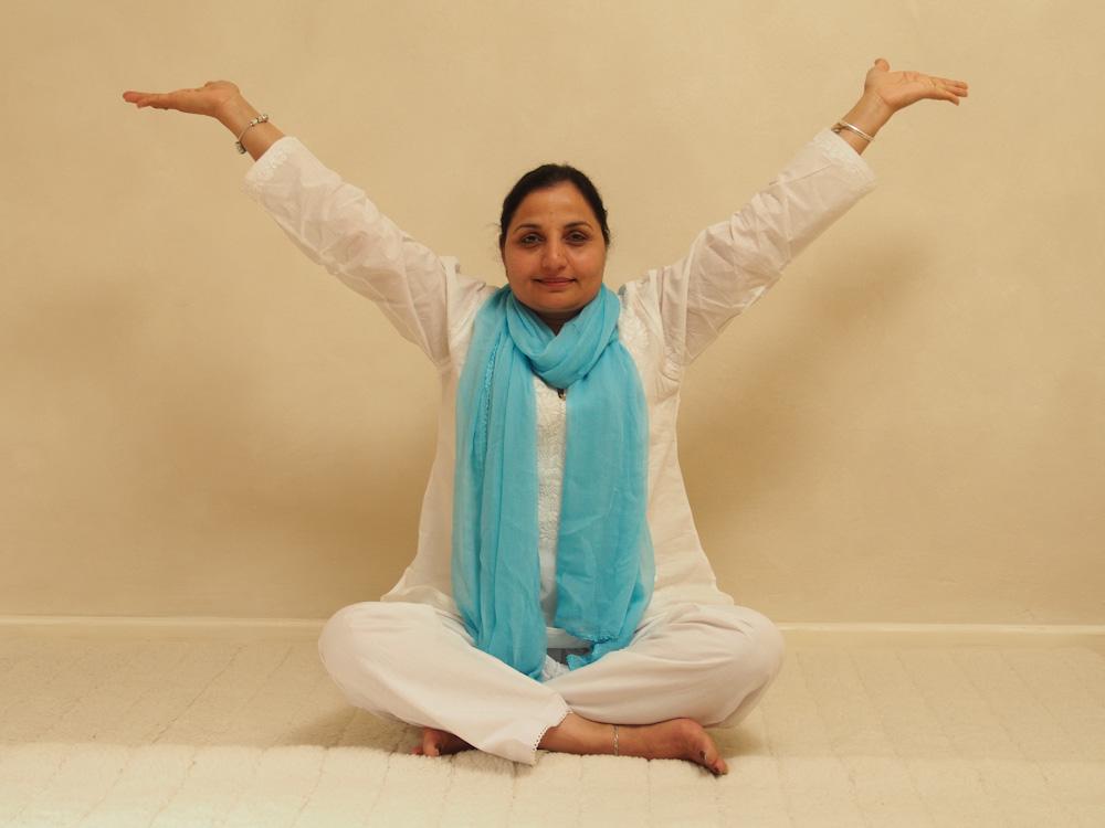 yoga stressabbau übung sitten